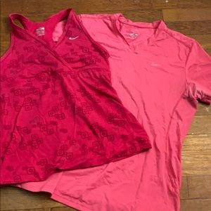 Two Nike athletic tops